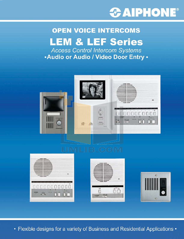 pdf for Aiphone Other LEF-5C Intercoms manual