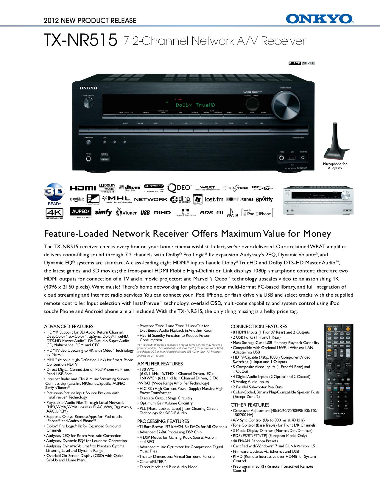 download free pdf for onkyo tx nr515 receiver manual rh umlib com onkyo tx-nr515 review onkyo tx-nr515 user manual