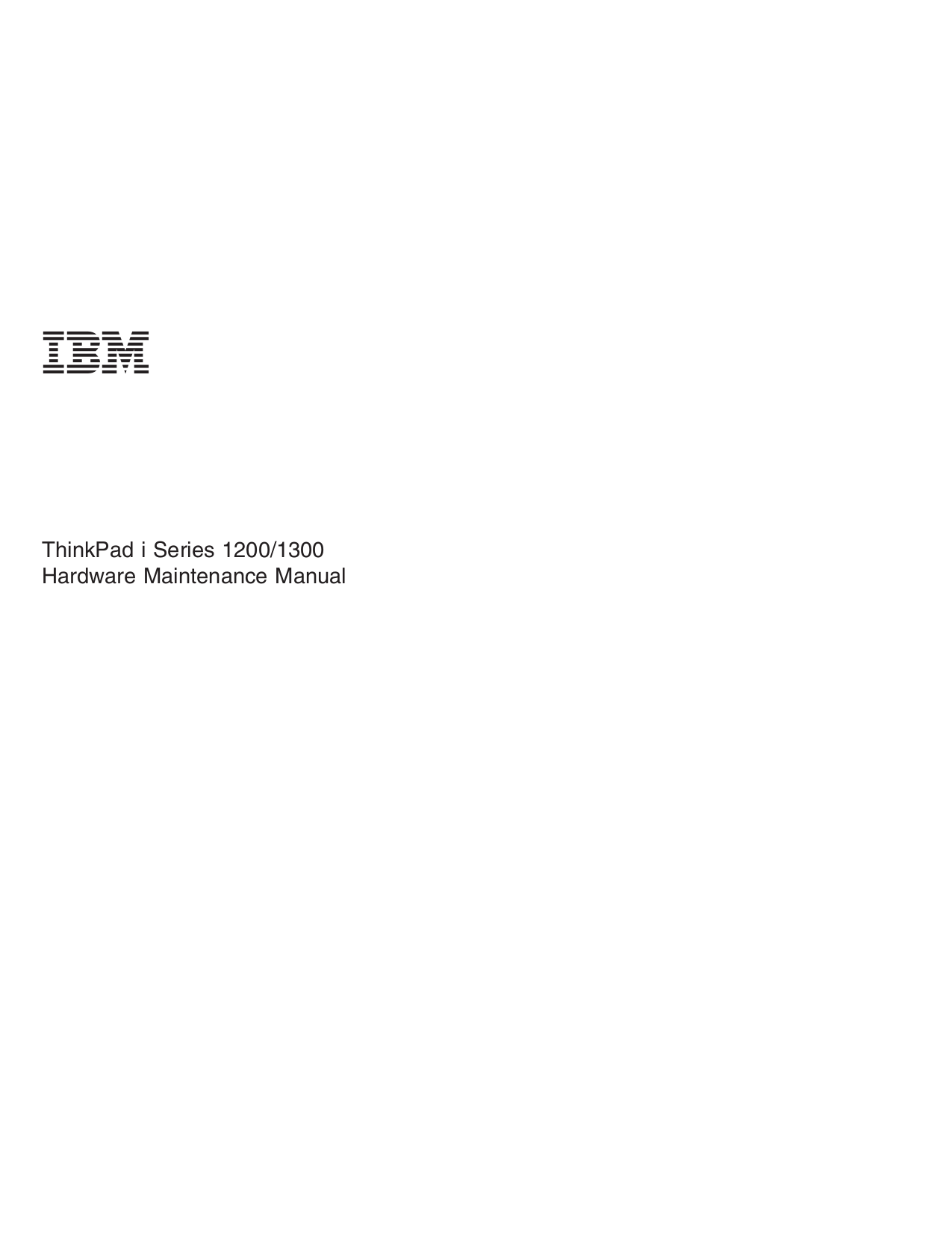 pdf for IBM Laptop ThinkPad i Series 1200 manual