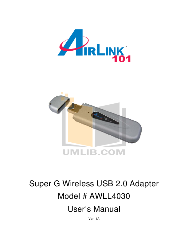 pdf for Airlink Other AWLL4030 Adapters manual