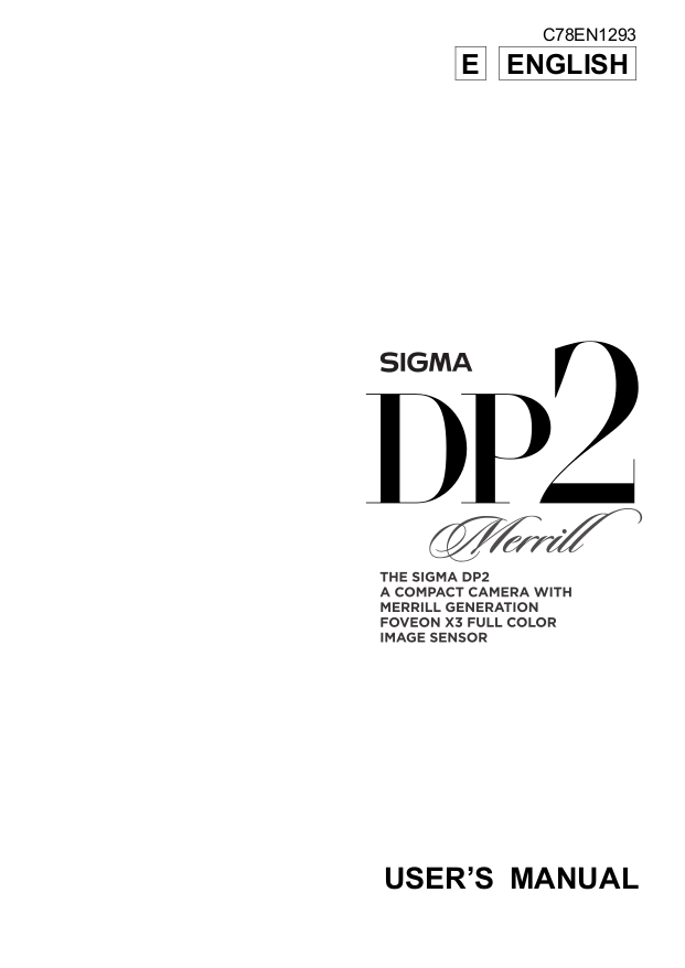 Sigma dp2 quattro manual.