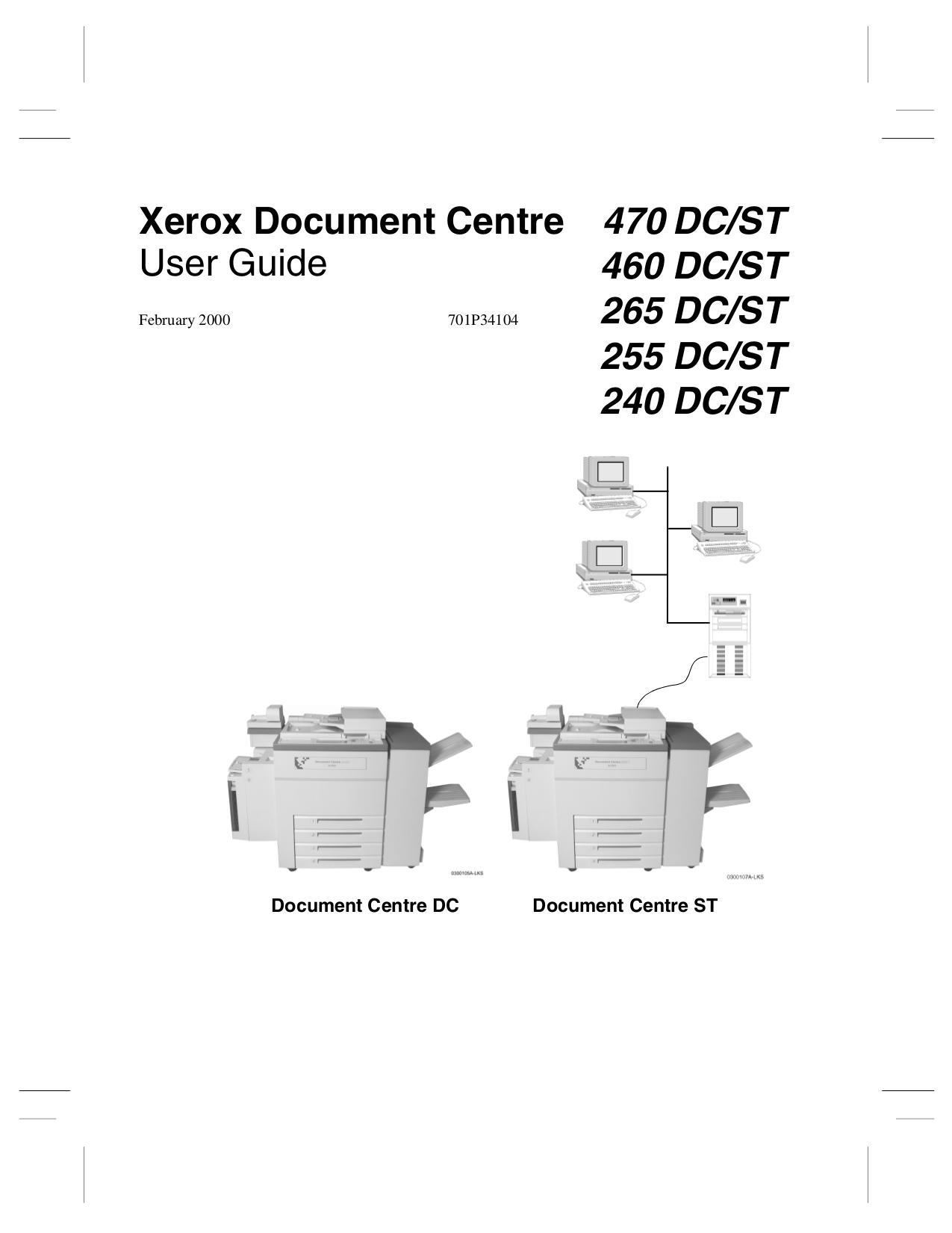 pdf for Xerox Copier Document Centre 240 manual
