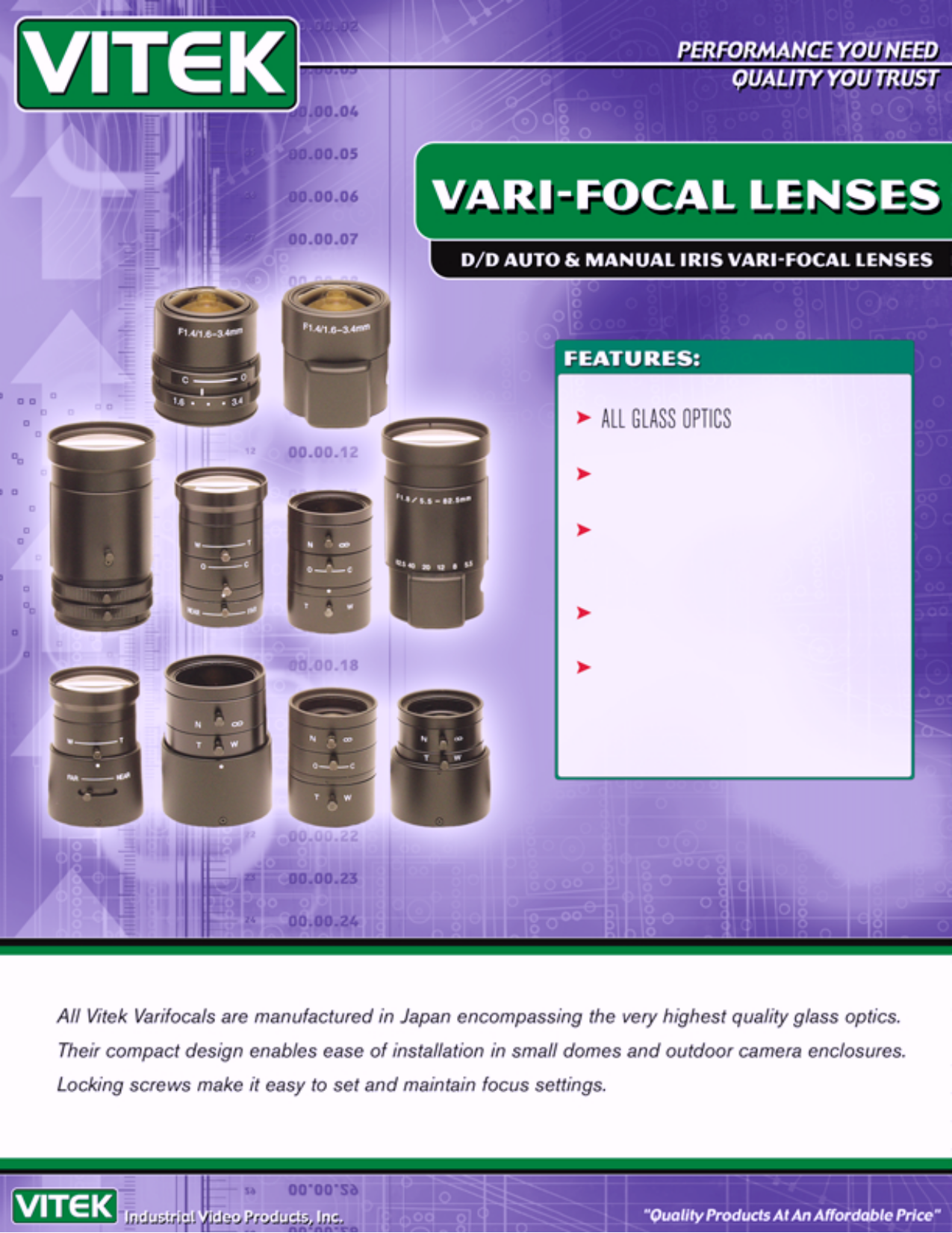pdf for Vitek Other VTL-5582 Lenses manual