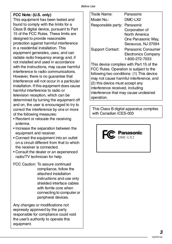 ... Panasonic Digital Camera Lumix DMC-GH1 pdf page preview ...