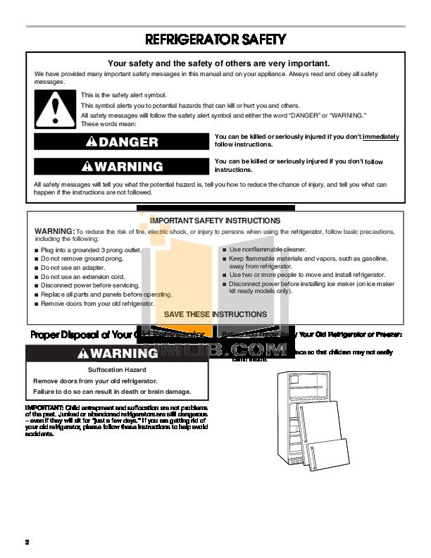 pdf manual for estate refrigerator tt18dkxrq rh umlib com Maytag Appliance Manuals Dishwasher Bosch Appliances