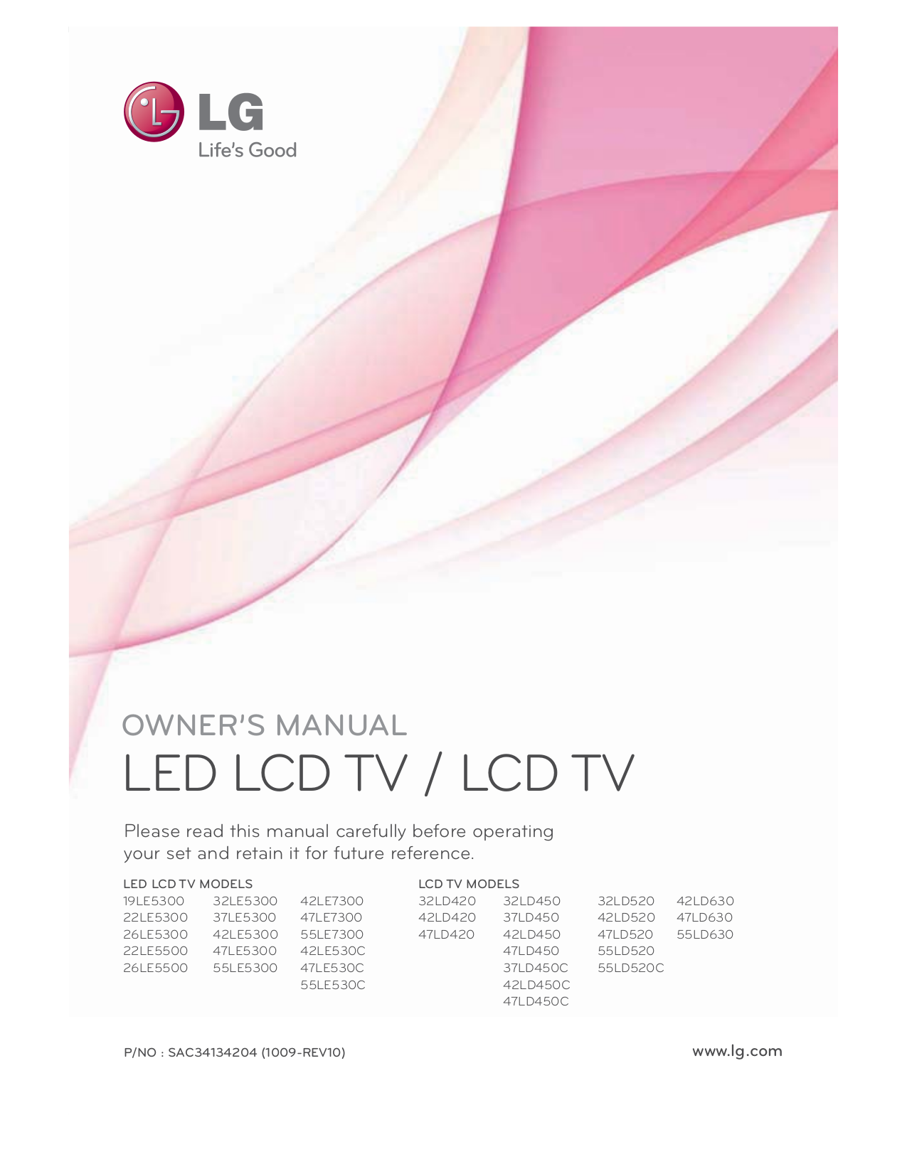 pdf for LG TV 47LE530C manual