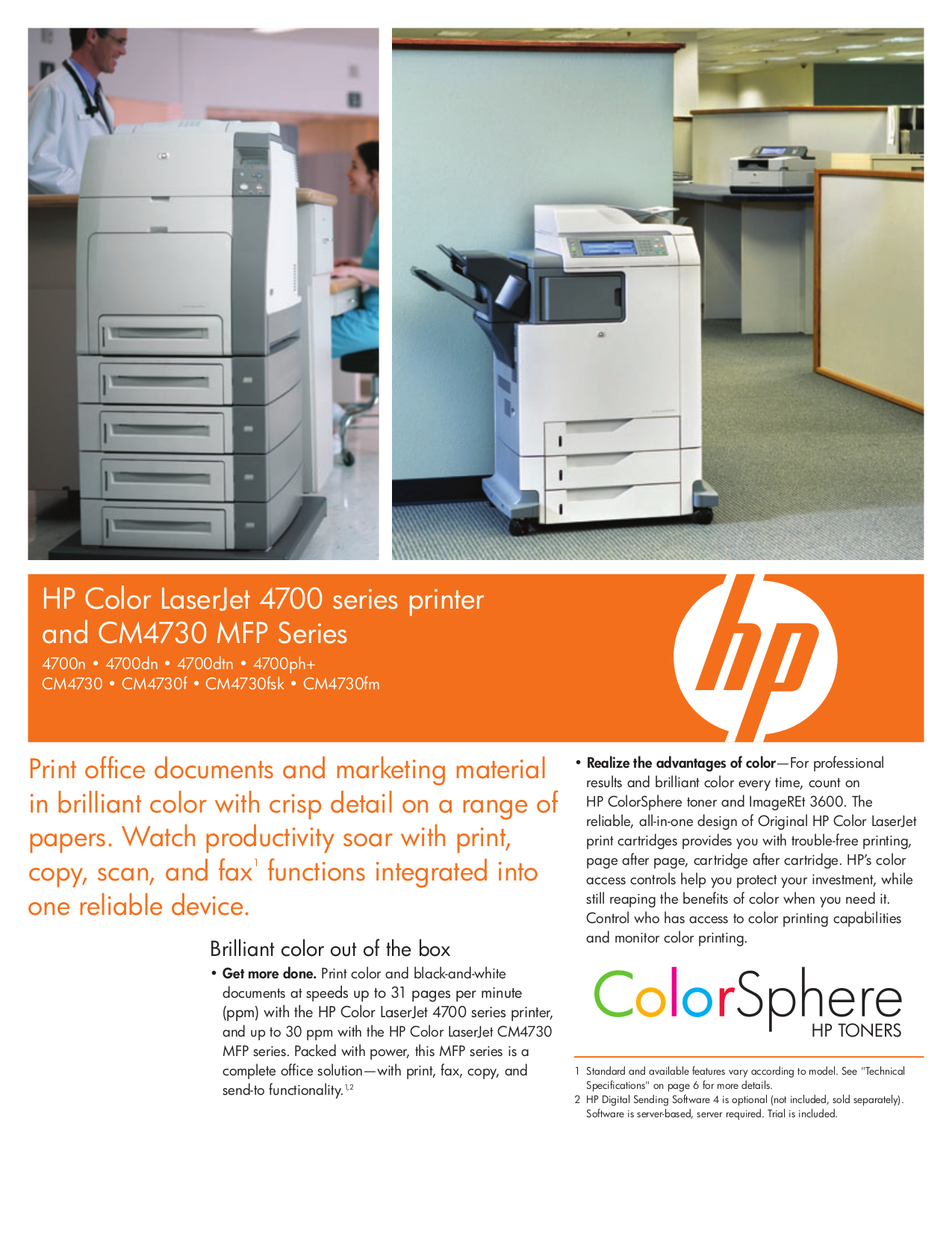 HP Multifunction Printer Laserjet,Color Laserjet CM4730fsk pdf page preview