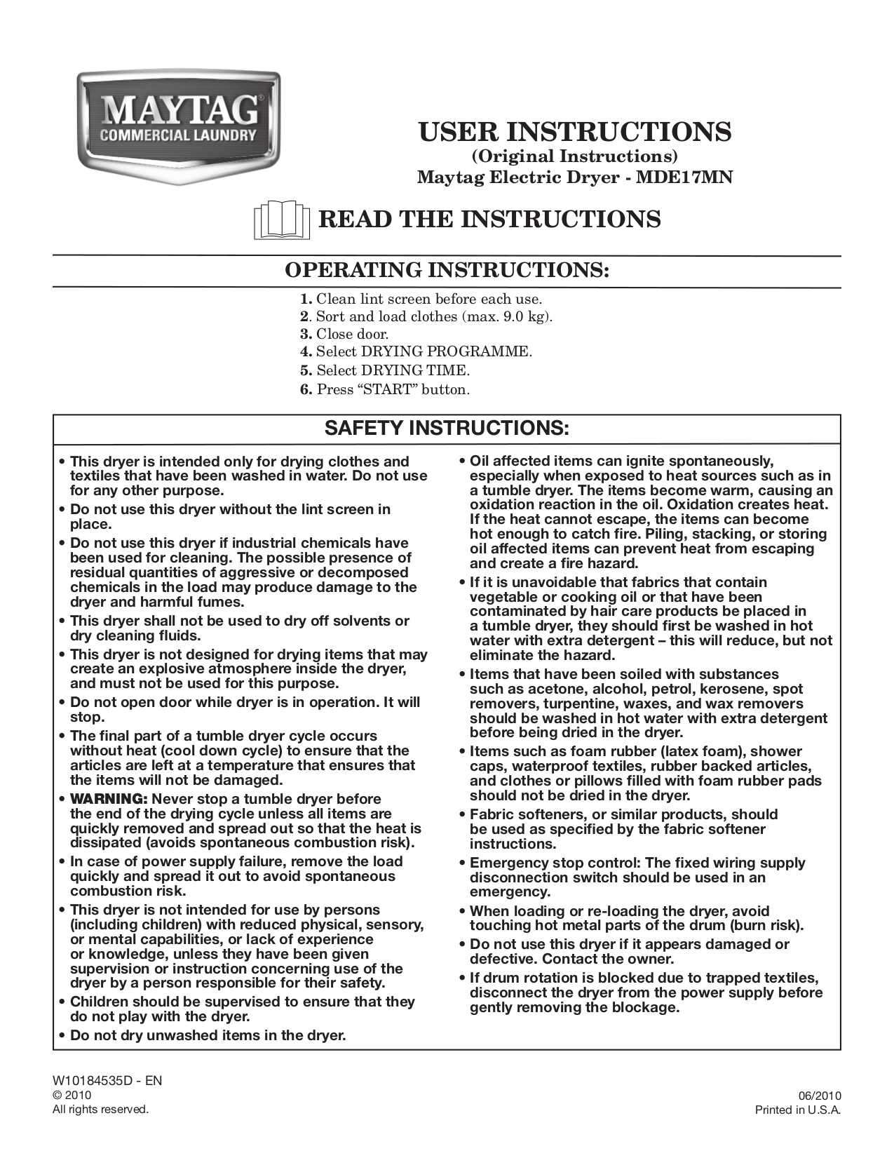 Download Free Pdf For Maytag Mde17mn Dryer Manual New Edition Schematic