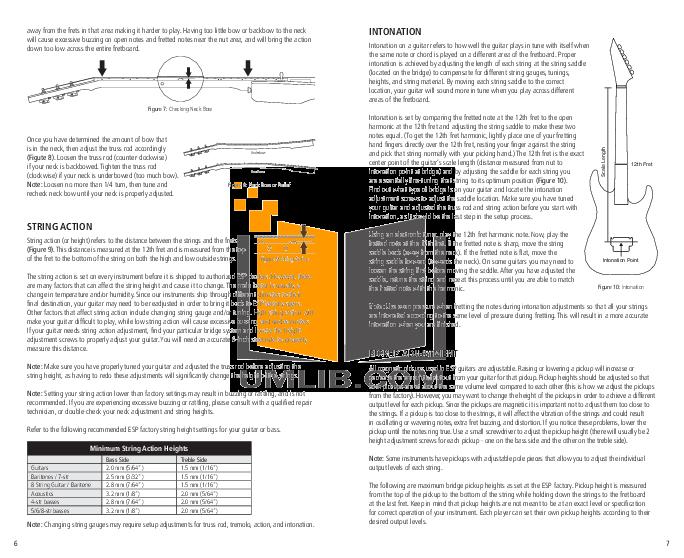 ESP Guitar MH-1000FR pdf page preview