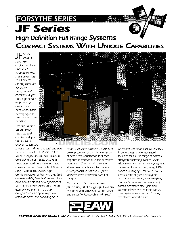 Eaw Speaker System JF560e pdf page preview