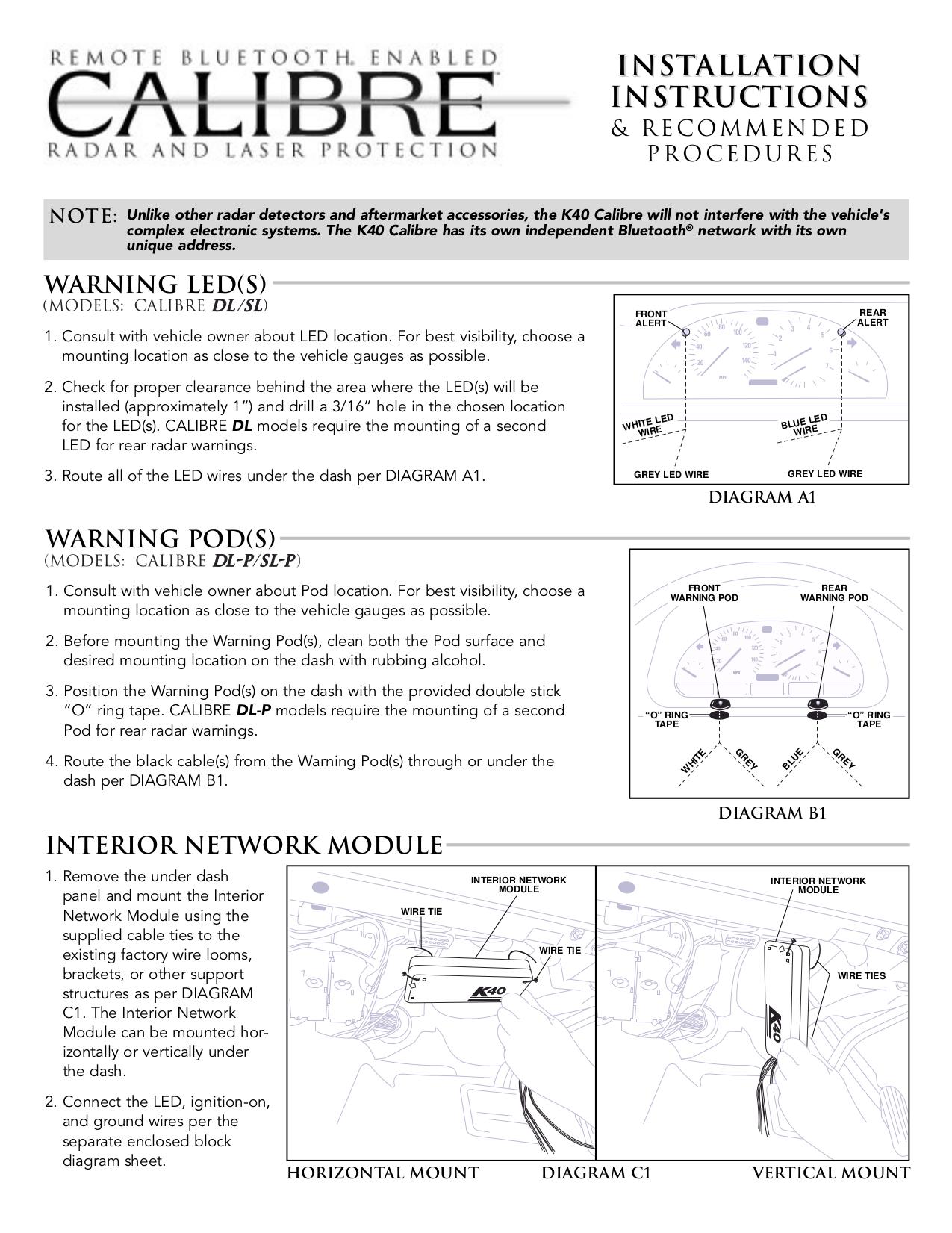 K40 Radar Detector Wiring Diagram And Schematics Free Picture Schematic Pdf For Calibre Manual