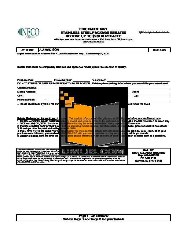 pdf for Frigidaire Refrigerator FRS3R5ESB manual