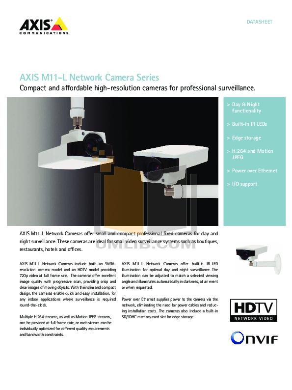 pdf for Axis Security Camera M1114-E manual