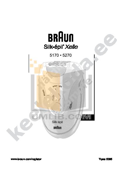 pdf for Braun Other Silk-epil Xelle 5270 Epilators manual