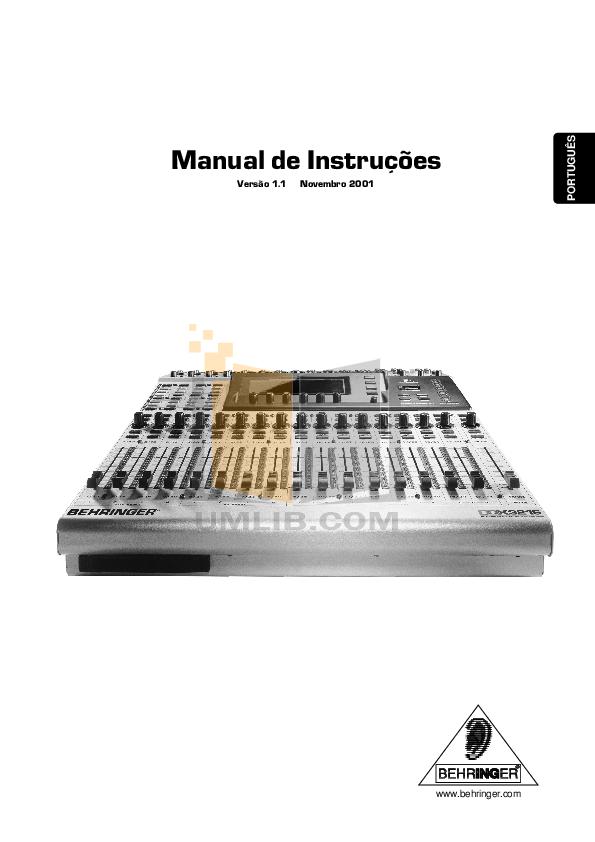 download free pdf for behringer ddx3216 mixers other manual. Black Bedroom Furniture Sets. Home Design Ideas