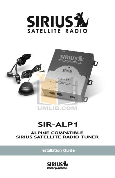 pdf for Alpine Car Video DHA-S680 manual
