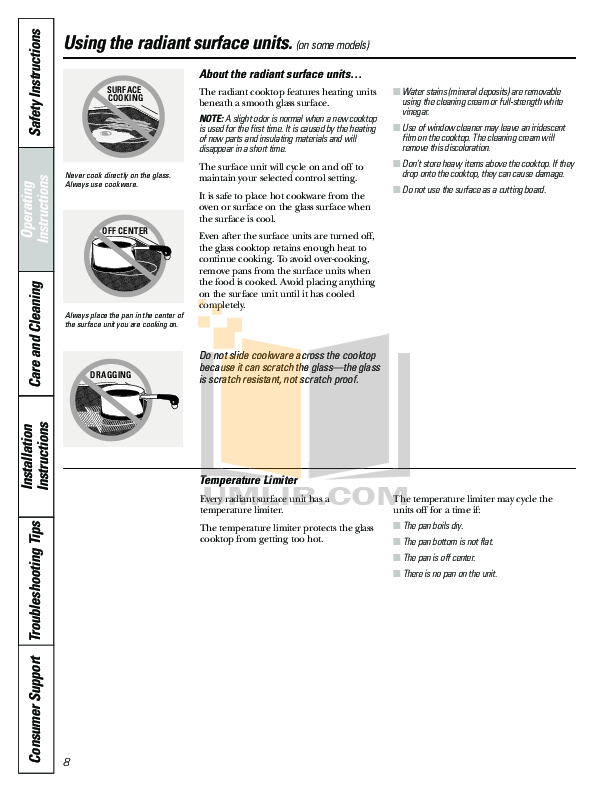 Hotpoint Range RB790 pdf page preview