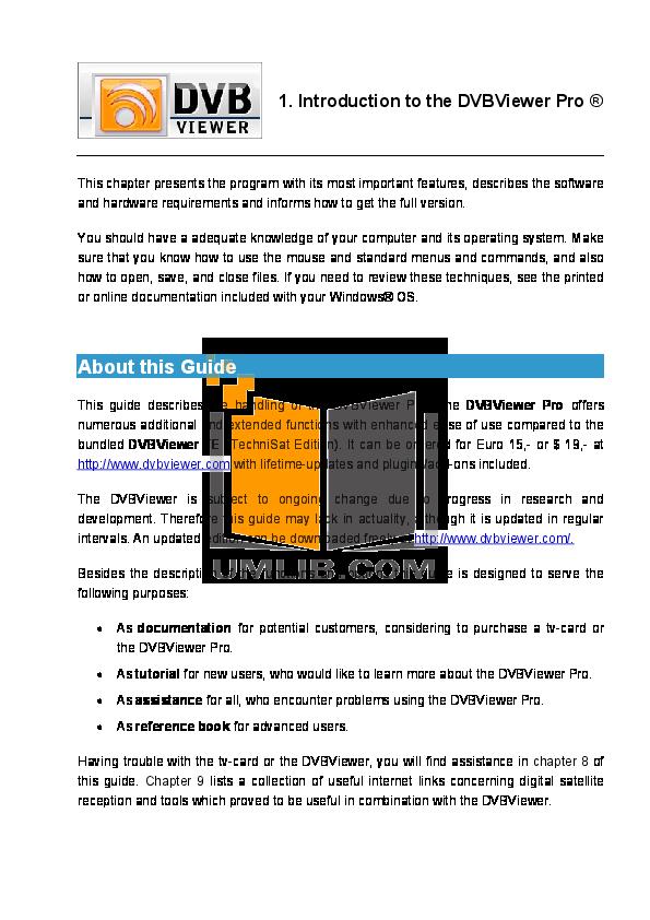 pdf for Avermedia Other AVerTV DVB-S Pro TV Tuner Cards manual