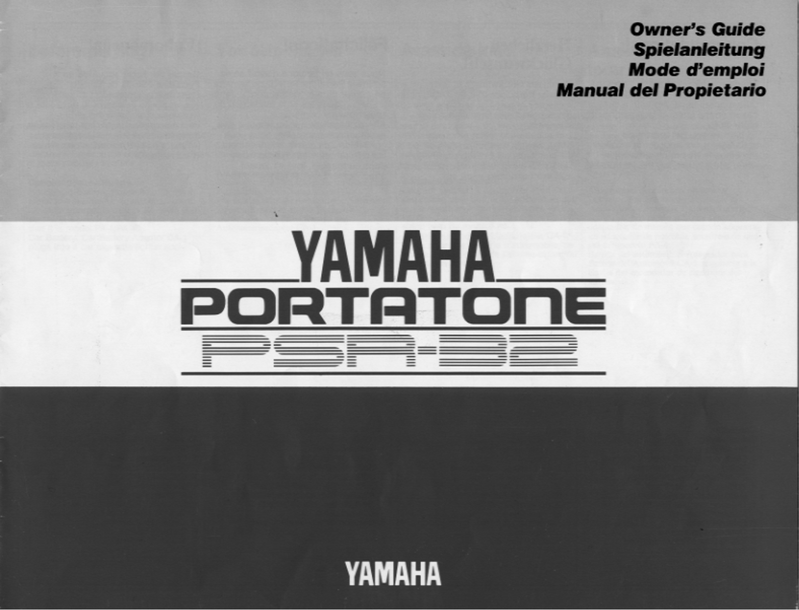pdf for Yamaha Music Keyboard E-5AR manual