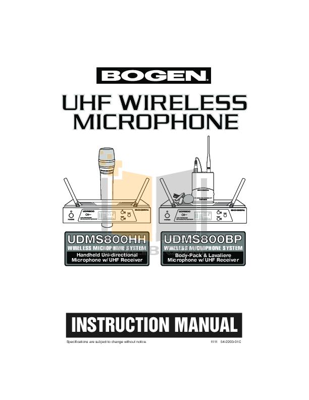 pdf for Behringer Amp MIC800 manual