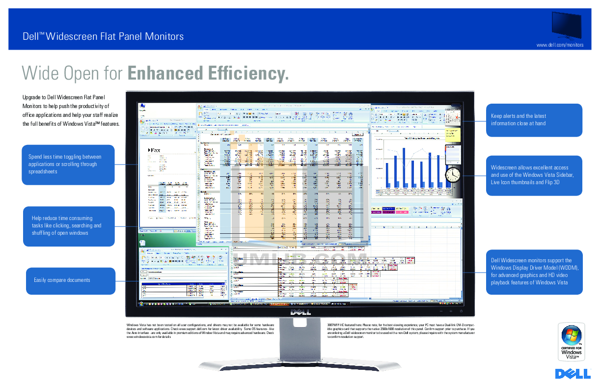 Dell Monitor UltraSharp 3007WFP-HC pdf page preview