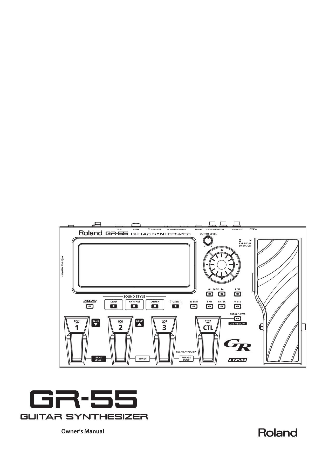 инструкция для roland gr 55 на русском