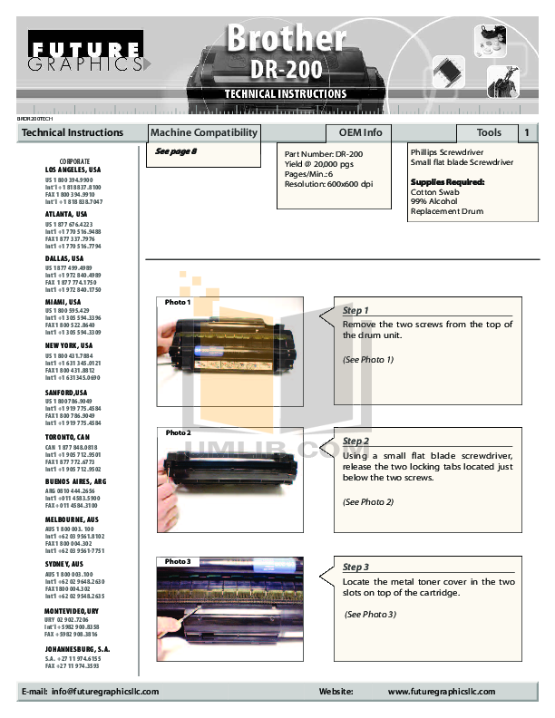 Brother Printer HL-720 pdf page preview