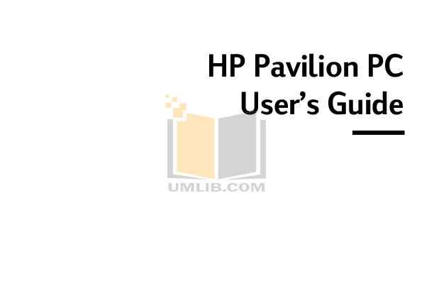 pdf for HP Laptop Pavilion DV6375 manual
