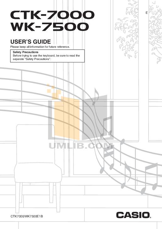 download free pdf for casio wk 1800 music keyboard manual