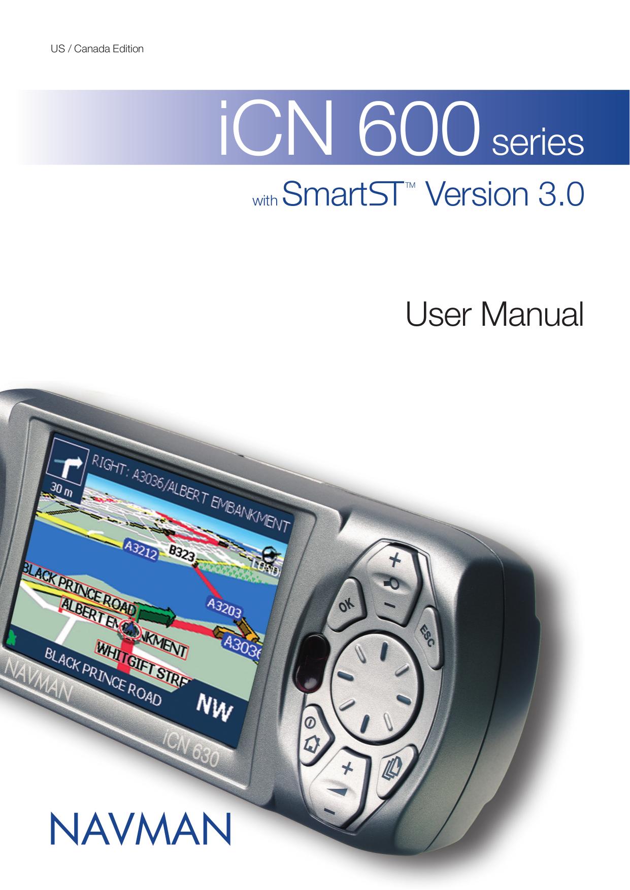 pdf for Navman GPS iCN650 manual