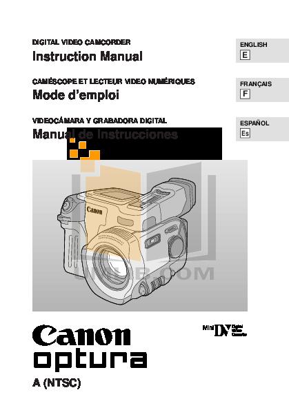 download free pdf for canon optura 60 camcorders manual rh umlib com Canon Optura Mini DV Canon Vixia