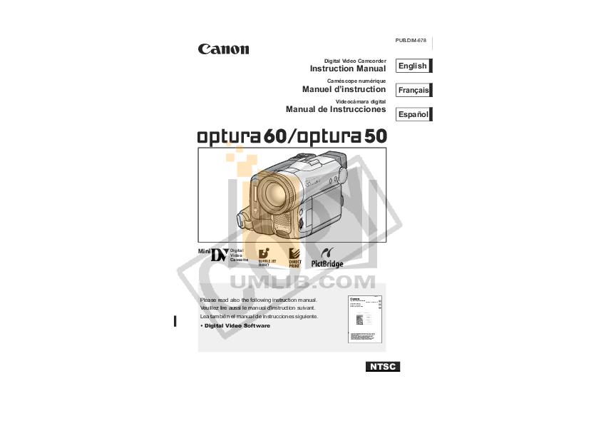 download free pdf for canon optura 60 camcorders manual rh umlib com Canon Optura Mini DV Camcorder Canon Vixia