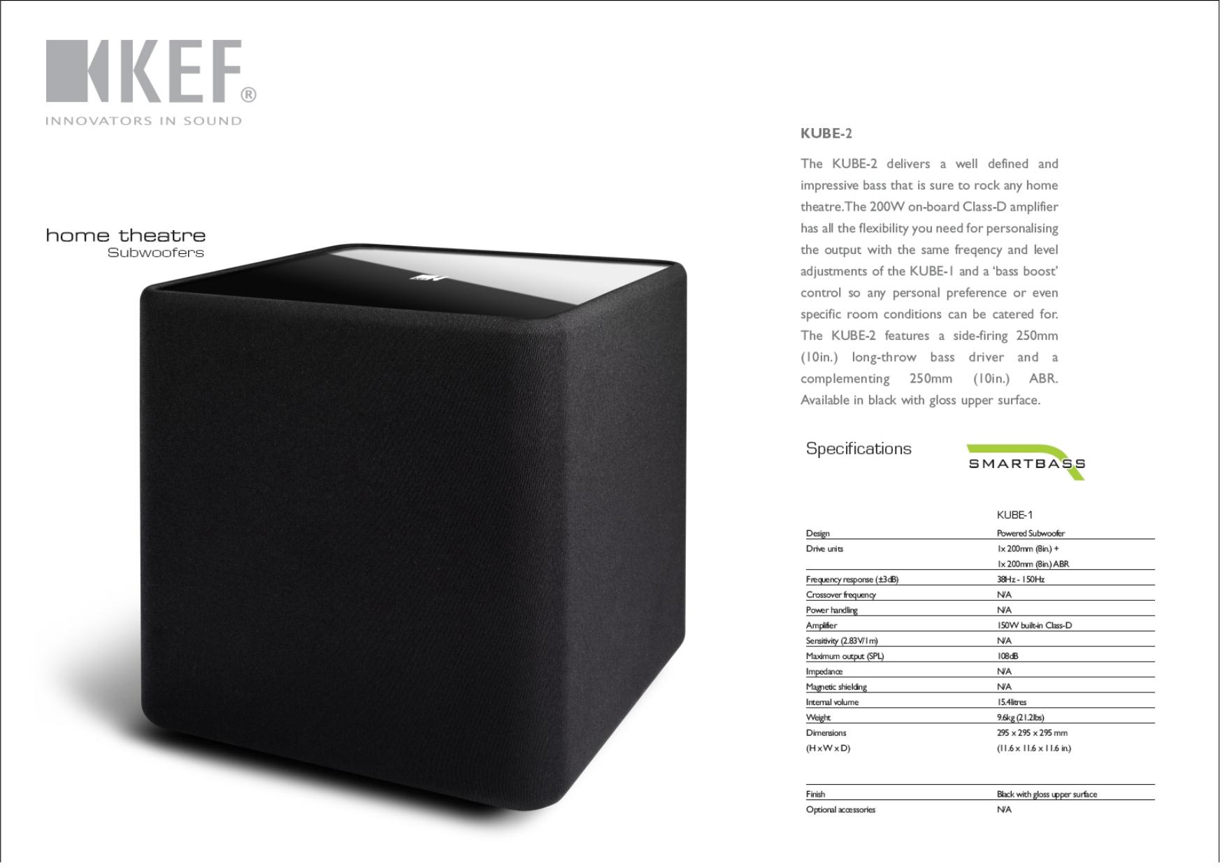 PDF manual for KEF Subwoofer C Series C4
