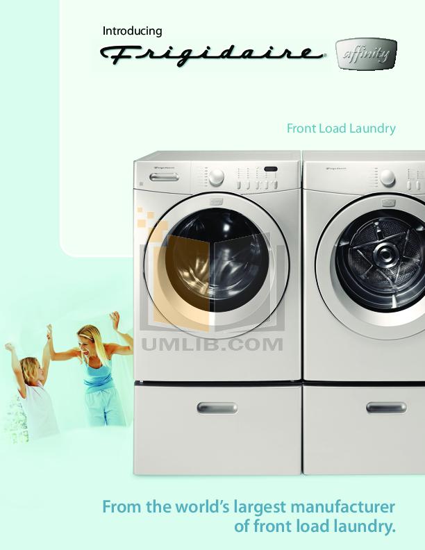 pdf for Frigidaire Dryer GQ1442ES manual