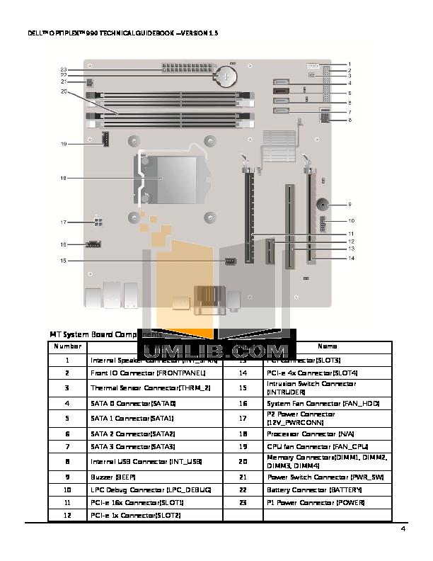 Dell Optiplex 990 Motherboard Diagram Wiring Circuit