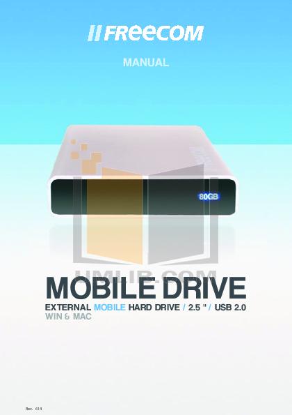 pdf for Freecom Storage Mobile Drive PRO manual