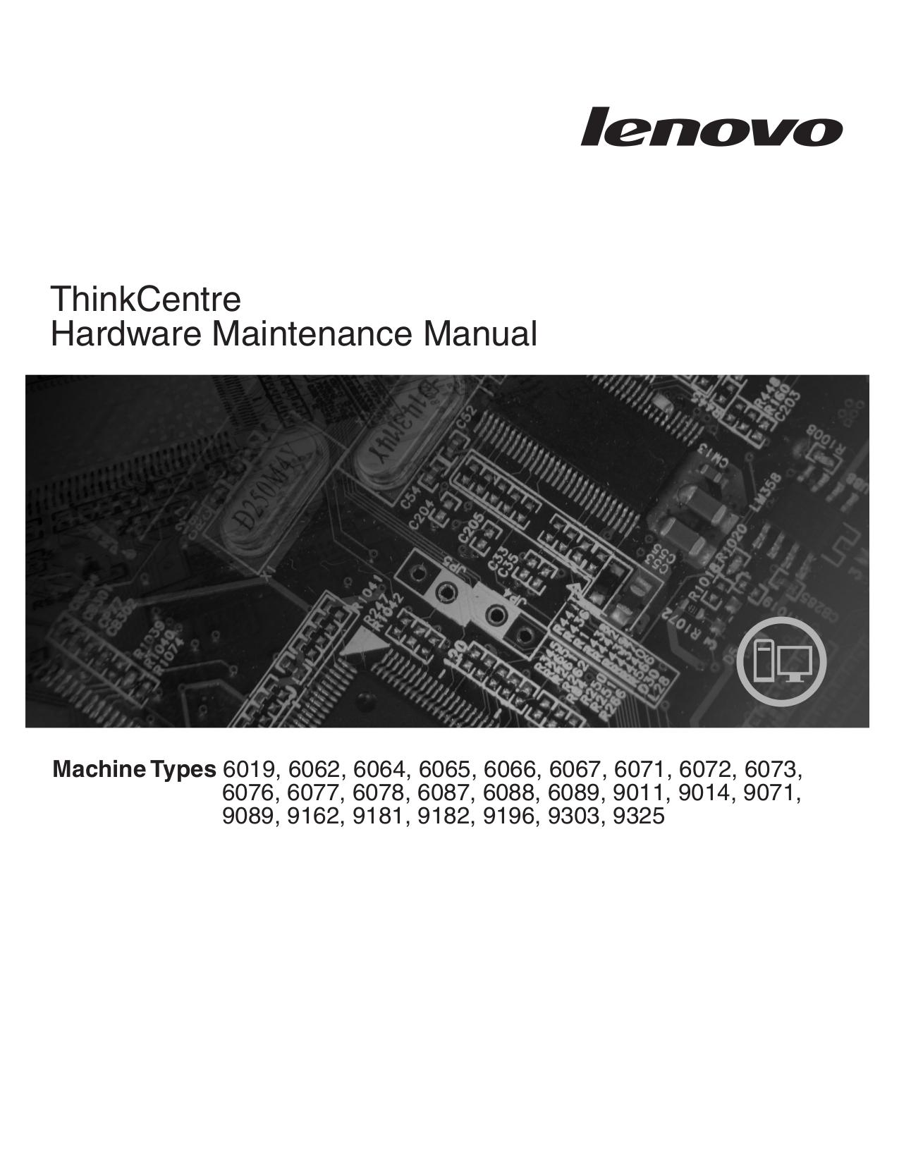 pdf for Lenovo Desktop ThinkCentre M57p 9330 manual