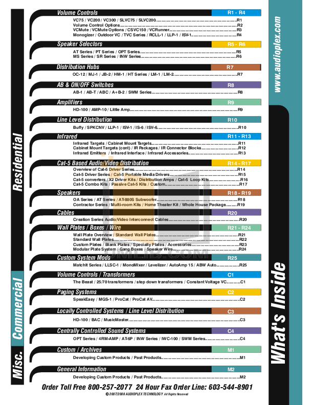 pdf for Audioplex Other SR-8 Speaker Selectors manual