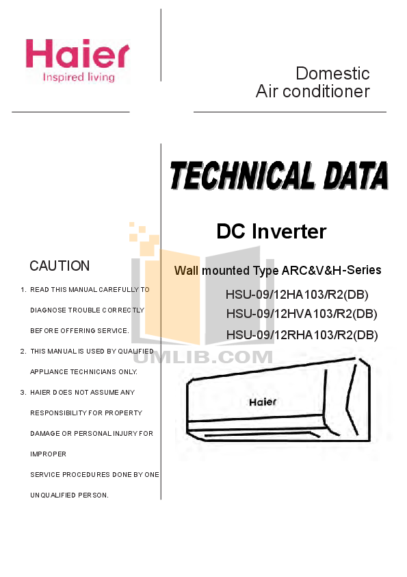 Pdf Manual For Haier Air Conditioner Hsu