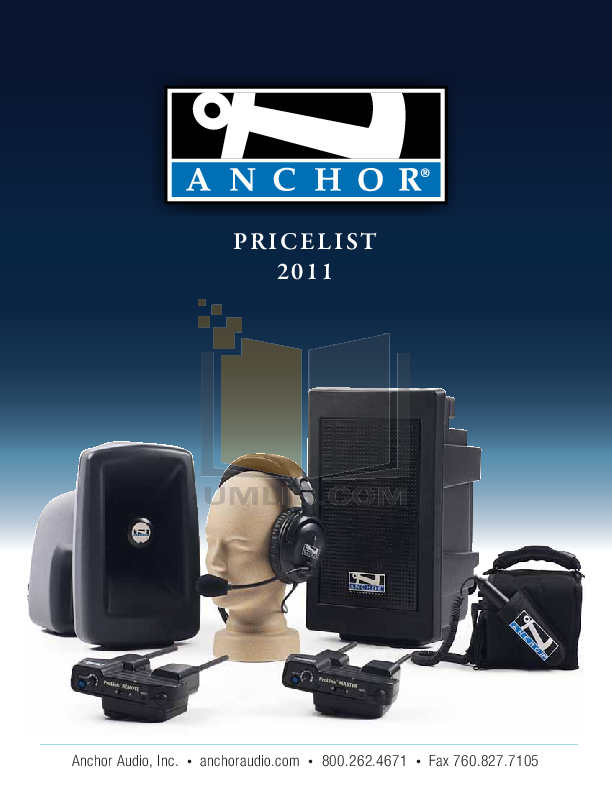 pdf for Anchor Speaker PB-30U1 manual