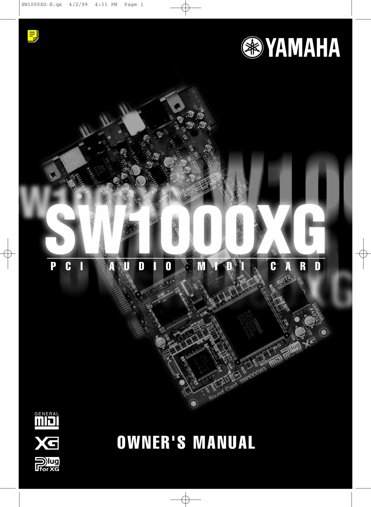 Download free pdf for Yamaha PC-1000 Music Keyboard manual