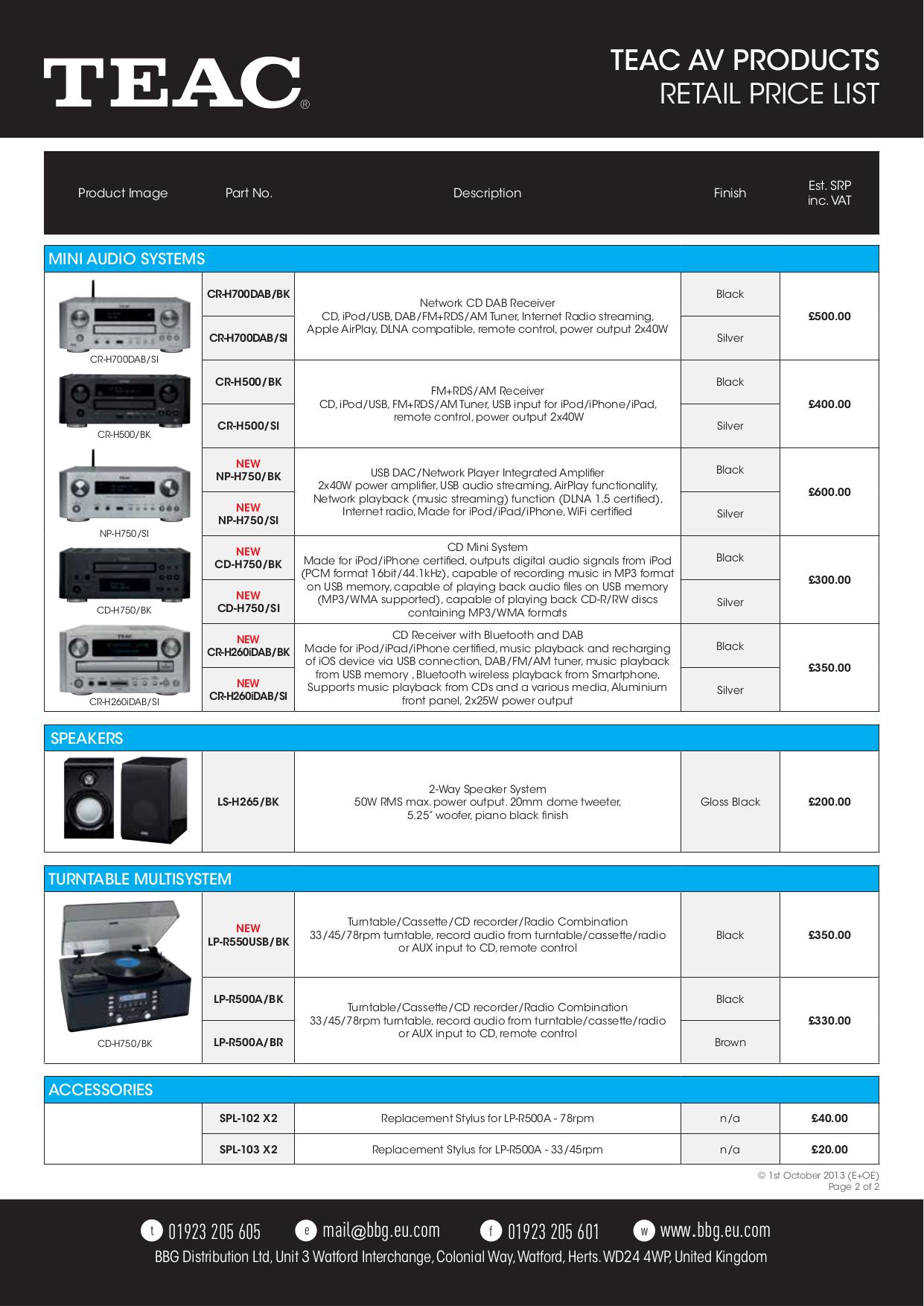 PDF manual for Teac CD Player CD-P1260