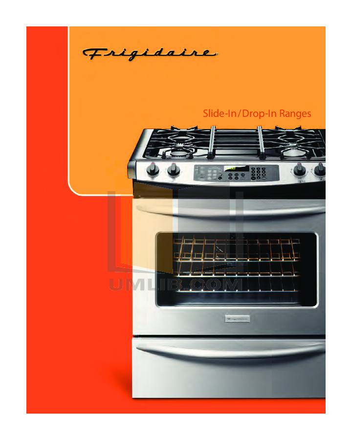 pdf for Frigidaire Range FGS365EC manual