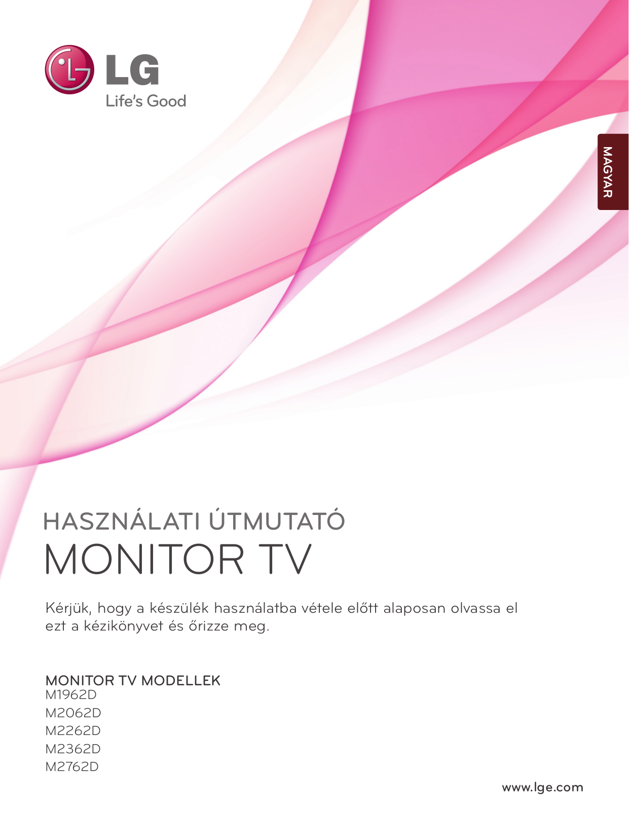pdf for LG Monitor M2362D manual