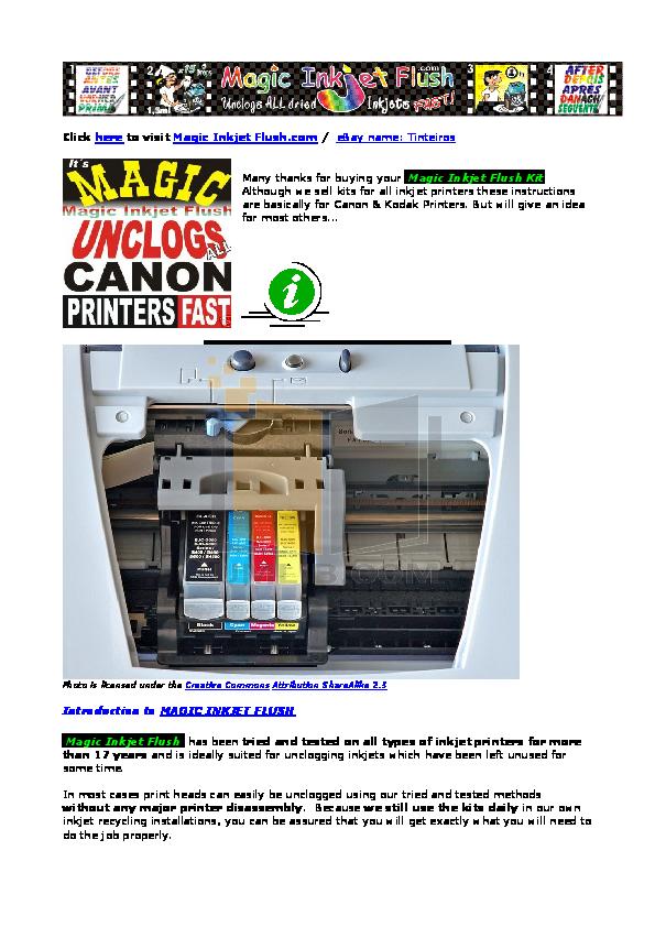 PDF Manual For Canon Printer I6500