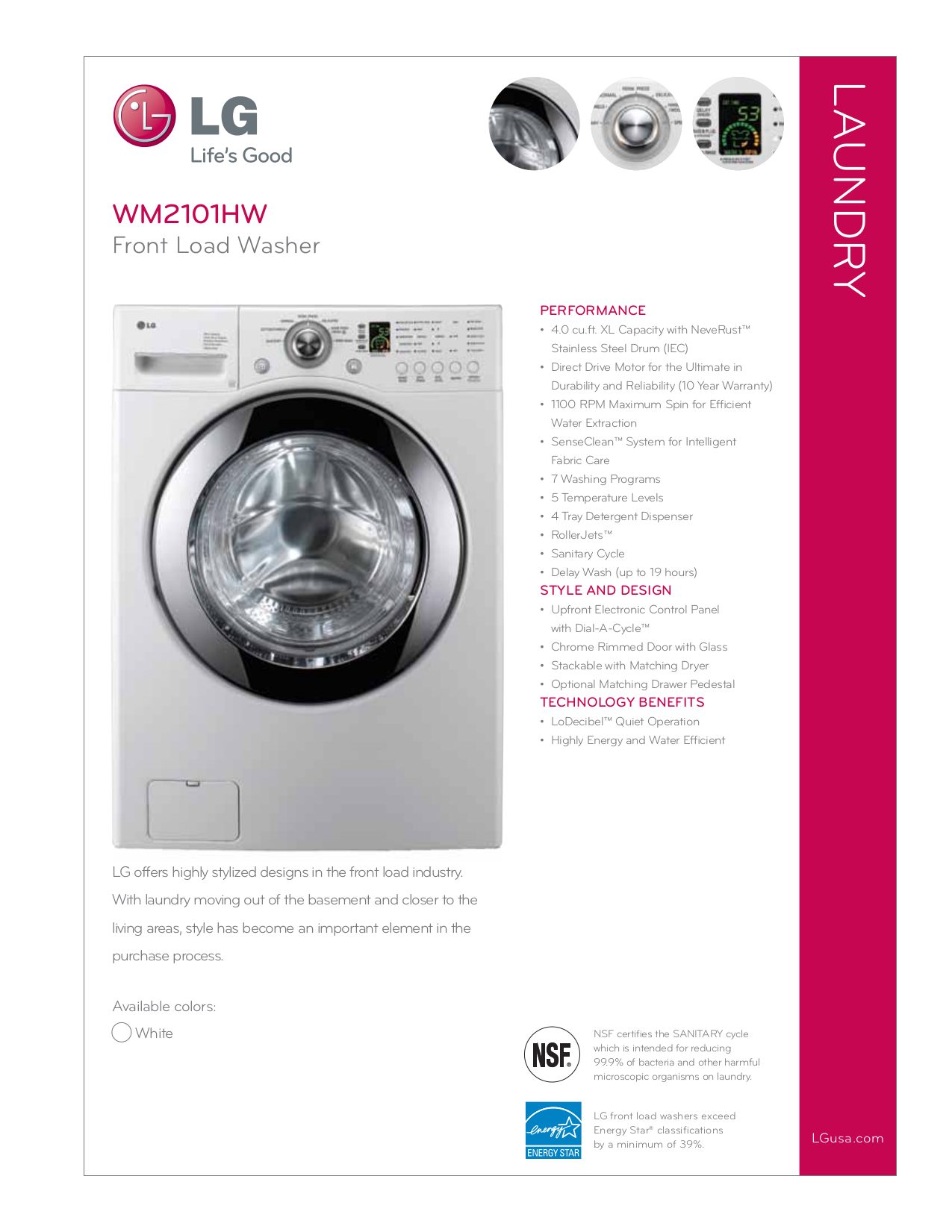 download free pdf for lg wm2101hw washer manual rh umlib com LG WM2101HW Washer LG Front Load Washer Parts