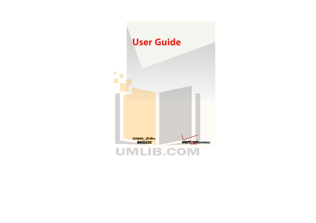 pdf for Casio Cell Phone GzOne Brigade manual