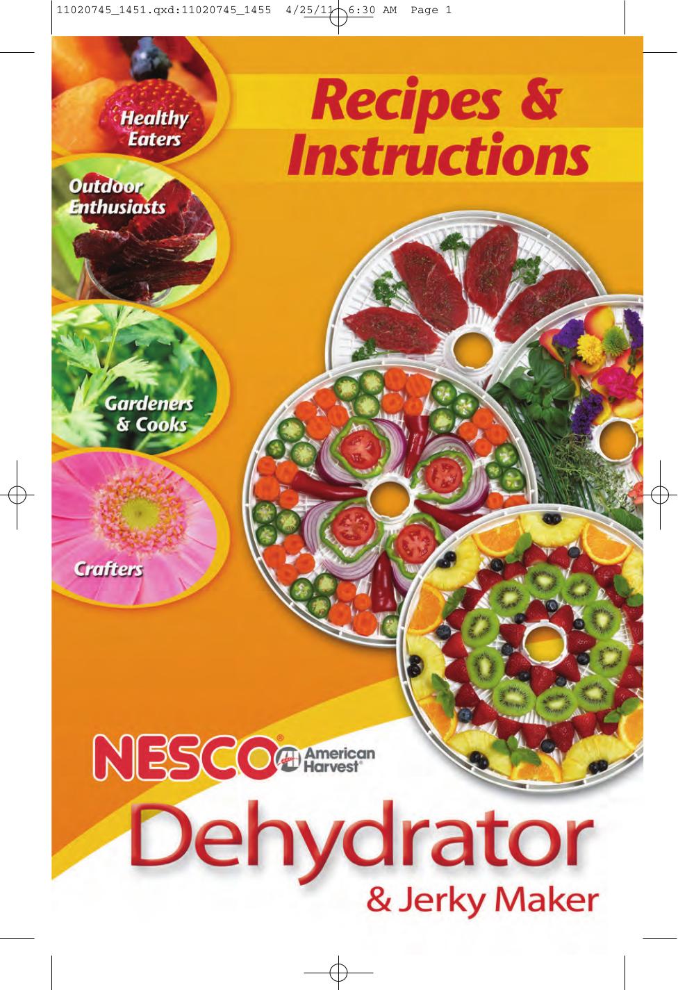 Pdf manual for nesco other fd-35 food dehydrator.