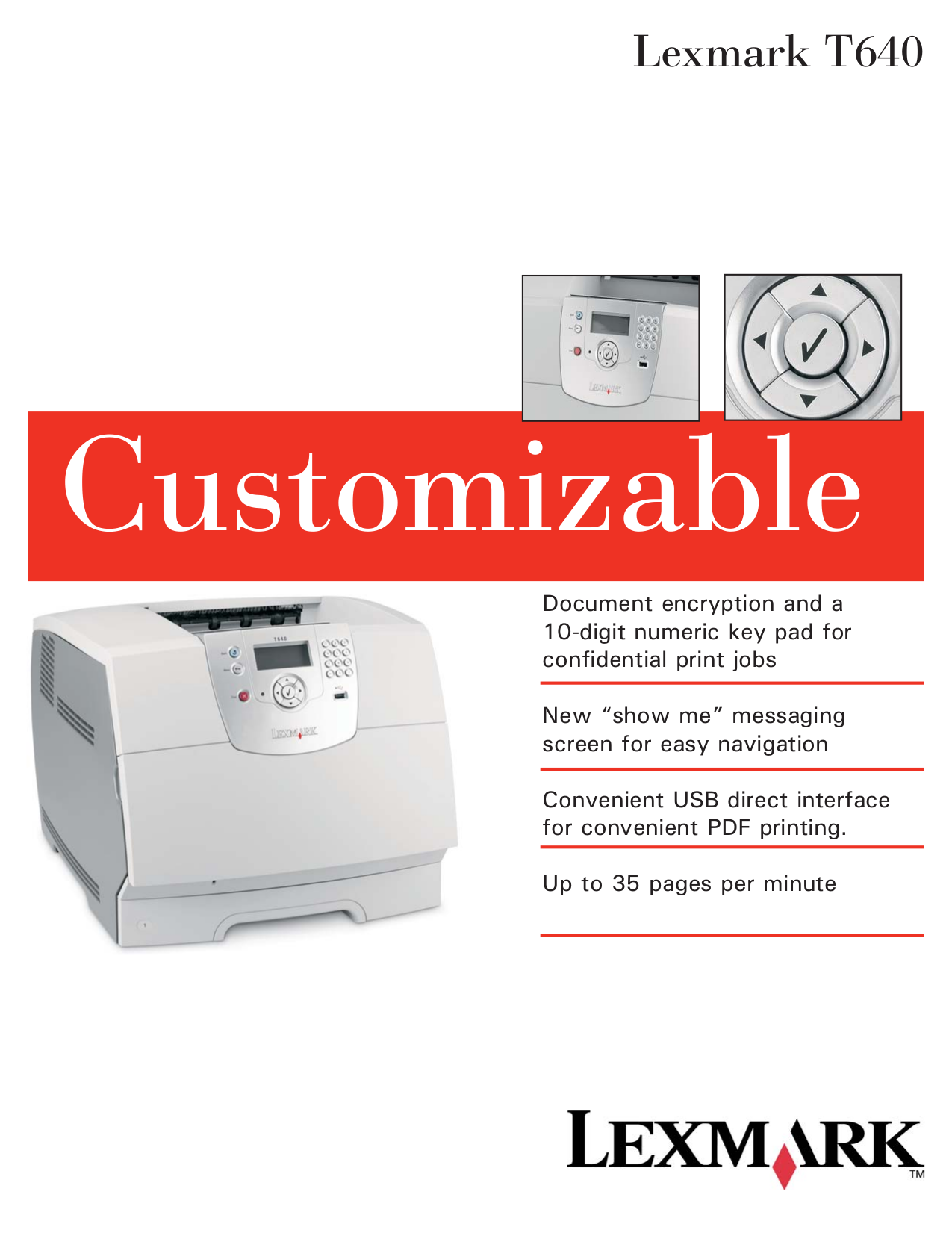 pdf for Lexmark Printer T640dn manual
