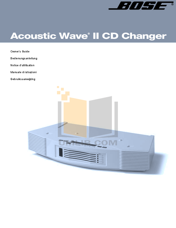 download free pdf for bose acoustic wave ii cd changer cd player manual. Black Bedroom Furniture Sets. Home Design Ideas